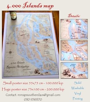 4000 islands decorative map