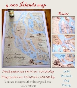 4000 islands decorative map