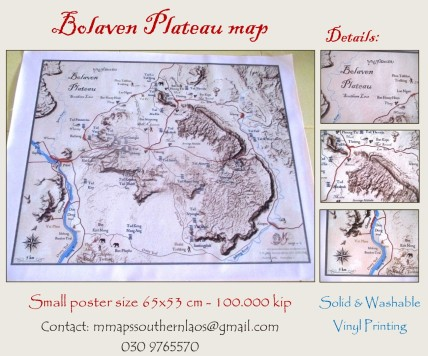 Bolaven Plateau decorative map