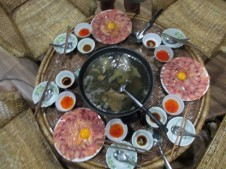 Fish hot pot Fondue
