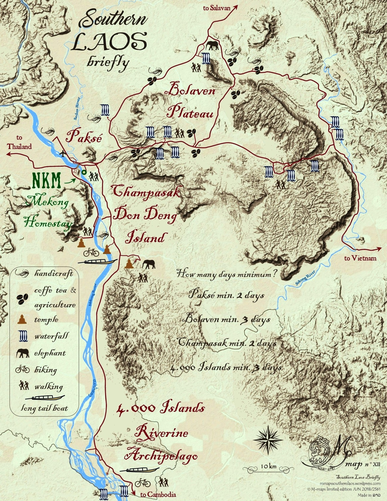 M Map XII Southern Laos briefly